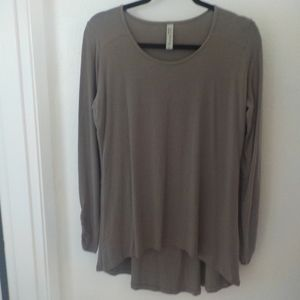 Taupe/Brown Organic Tunic Long Sleeve Tee